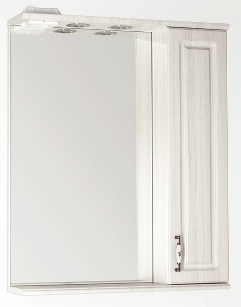 Зеркальный шкаф 65х83 см рельеф пастель Style Line Олеандр-2 LC-00000202 фото