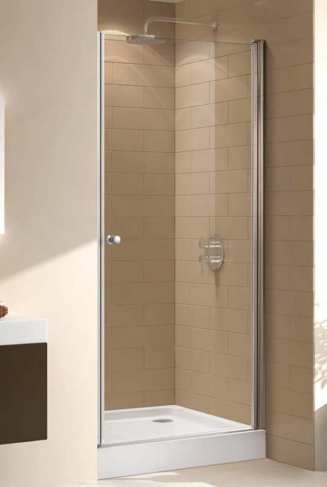 Душевая дверь 75 см Cezares ECO-O-B-1-75-C-Cr прозрачное