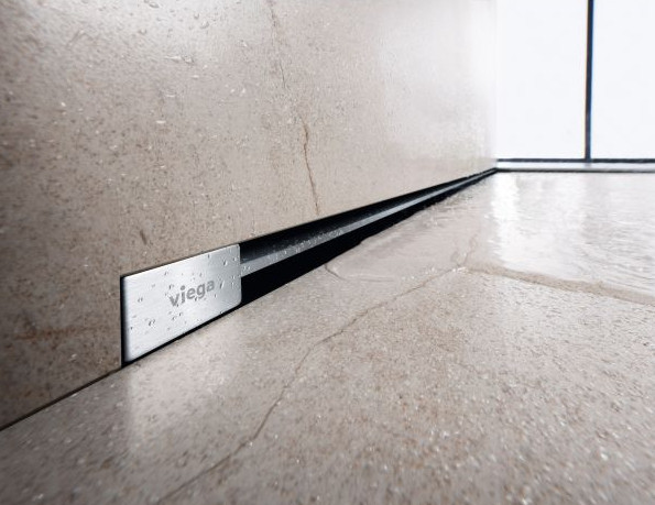 Дизайн-вставка для душевого лотка 300-1200 мм модель 4967.31 глянцевый хром Viega Advantix Vario 736576