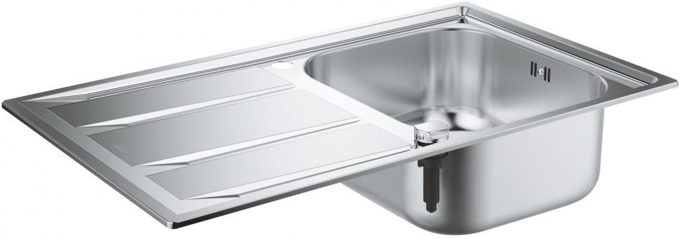 Кухонная мойка Grohe K400 нержавеющая сталь 31566SD0 врезная кухонная мойка 87 3 см grohe k400 31568sd0 нержавеющая сталь