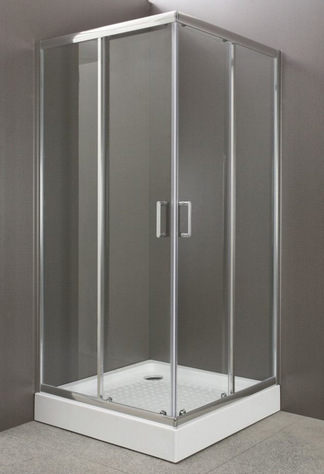 цены Душевой уголок BelBagno Uno 95х95 см текстурное стекло UNO-A-2-95-P-Cr