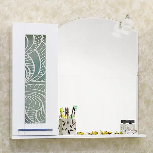 Зеркальный шкаф 81х79 см белый L Sanflor Валлетта H0000000948 раскладушка olsa валлетта с816