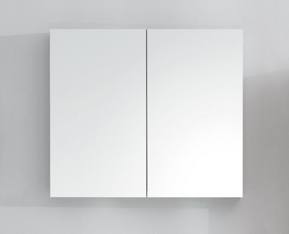 Зеркальный шкаф с нижней подсветкой 80х70 см BelBagno SPC-2A-DL-BL-800 зеркальный шкаф bellezza миа 85 с подсветкой l белый