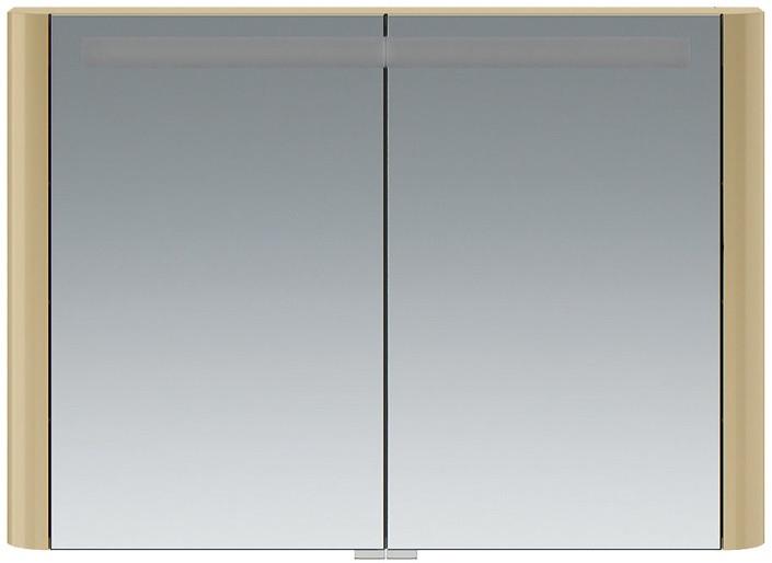 Зеркальный шкаф 100х70 см нуга глянец Am.Pm Sensation M30MCX1001NG