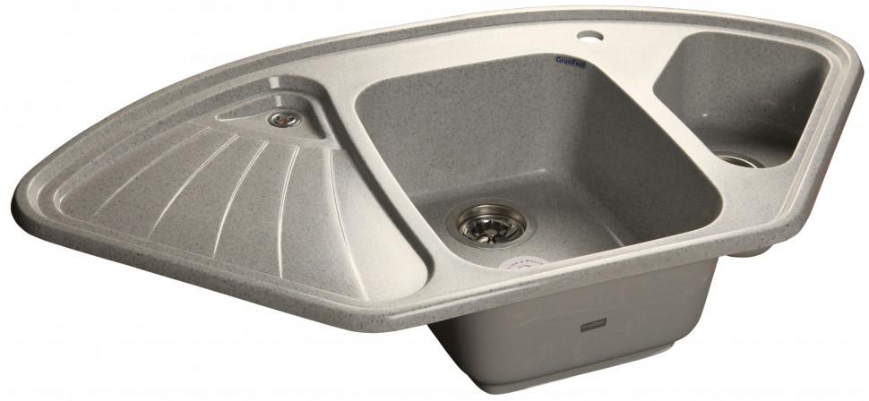 Кухонная мойка серый GranFest Corner GF-C1040E цены онлайн