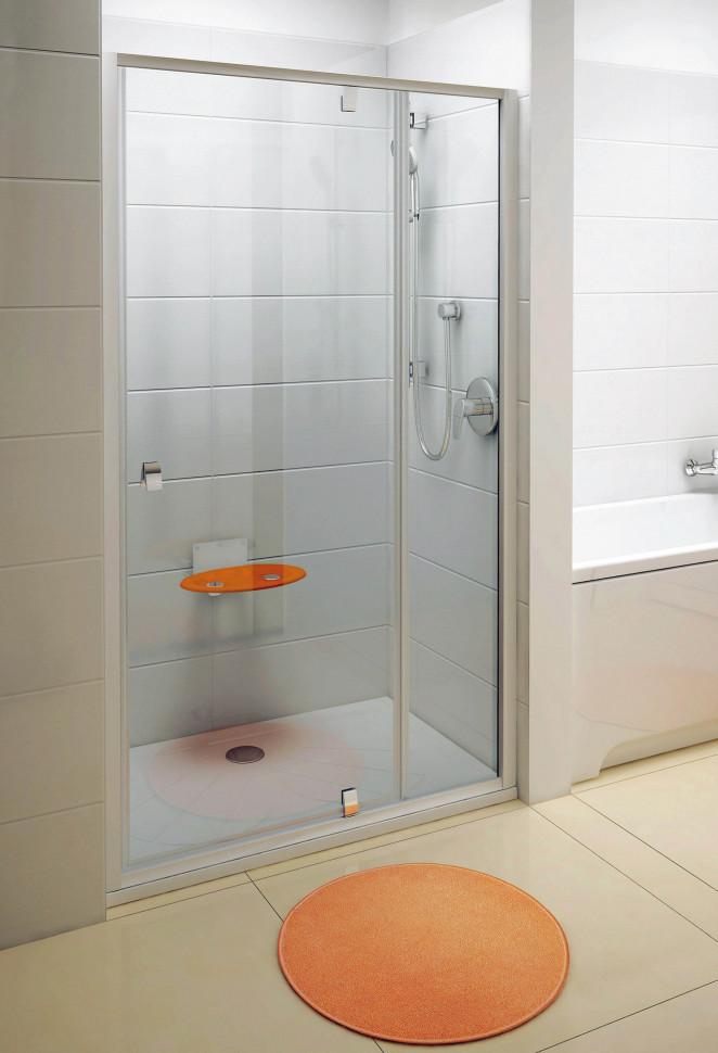 Душевая дверь Ravak Pivot PDOP2 110 сатин Transparent 03GD0U00Z1 душевая дверь ravak pivot pdop2 100 сатин transparent 03ga0u00z1