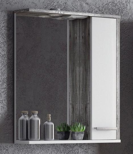 Зеркальный шкаф 65х74 см антик Corozo Лорена SD-00000294 тумба белый глянец антик 62 см corozo лорена sd 00000354