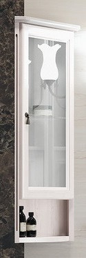 Шкаф подвесной угловой белый Opadiris Клио Z0000002270