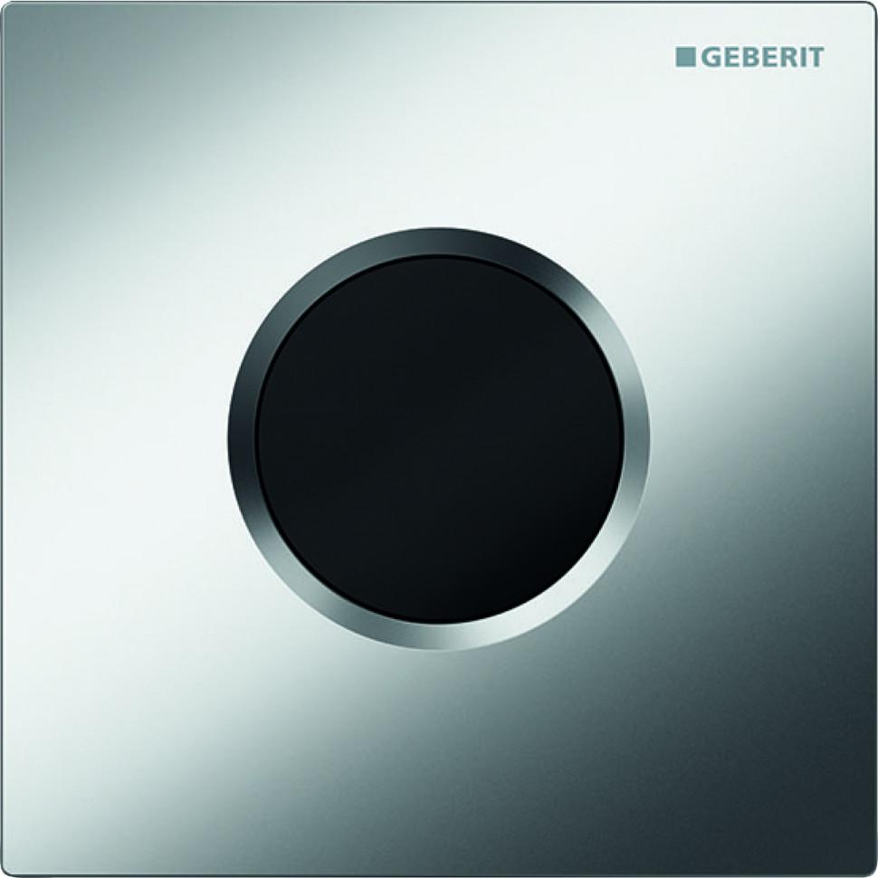 Система электронного управления смывом писсуара, питание от сети, защитная крышка типа 01 Geberit матовый хром 116.021.46.5