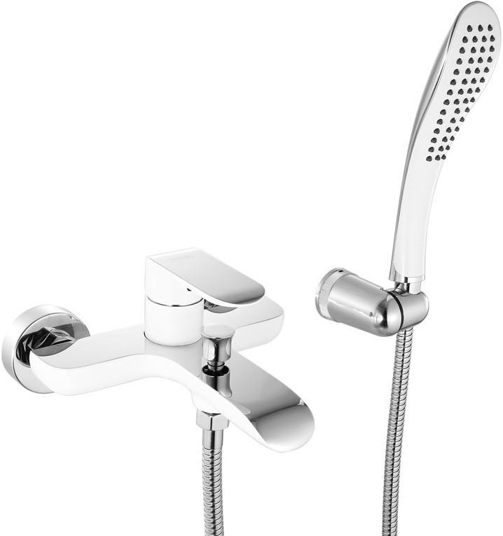 Смеситель для ванны хром/белый IDDIS CalIpso CALSB00I02 смеситель д ванны iddis calipso врезной кор излив 4отв белый