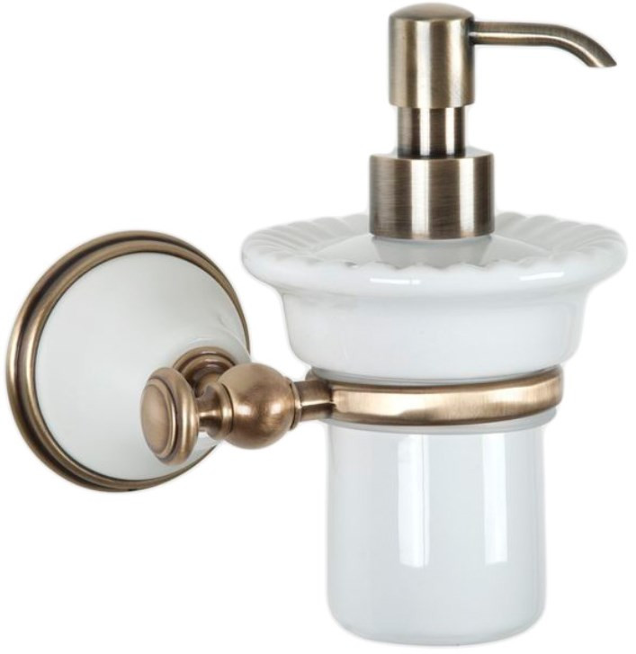 Дозатор жидкого мыла белый/бронза Tiffany World Harmony TWHA108bi/br