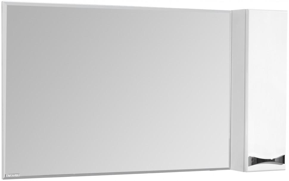 Зеркальный шкаф 120х86,8 см белый глянец R Акватон Диор 1A110702DR01R зеркальный шкаф 65х85 см белый глянец r акватон домус 1a166202ll01r