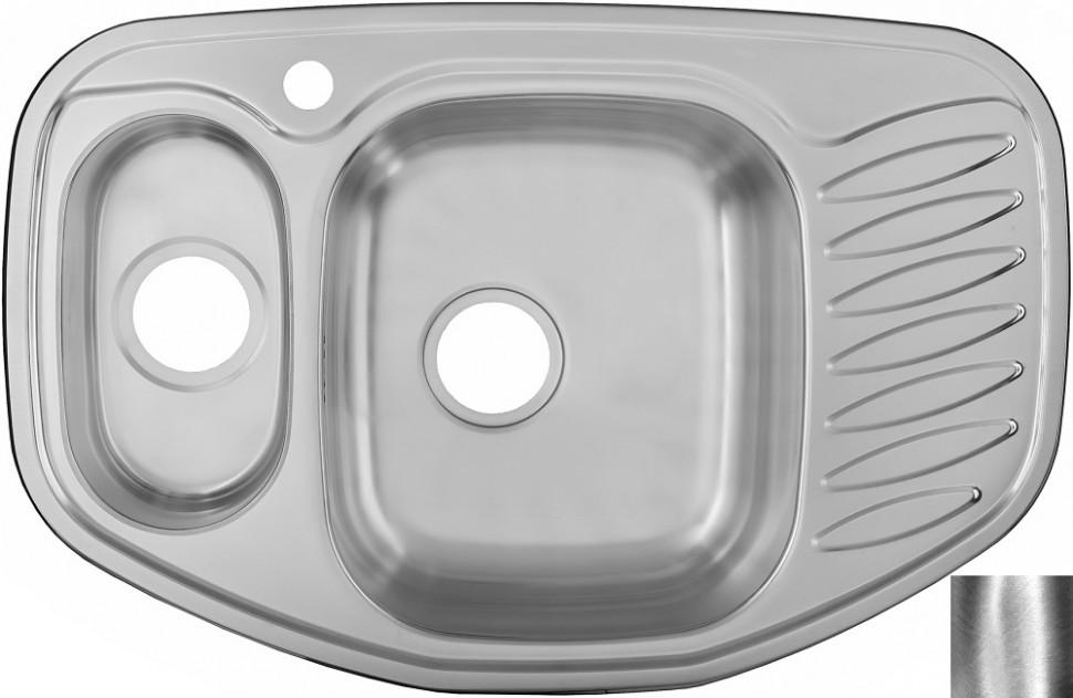 цены Кухонная мойка полированная сталь Ukinox Комфорт COP776.507 15GT8K 1C