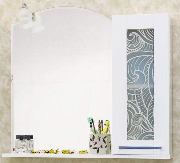 Зеркальный шкаф 81х79 см белый R Sanflor Валлетта H0000000949 раскладушка olsa валлетта с816