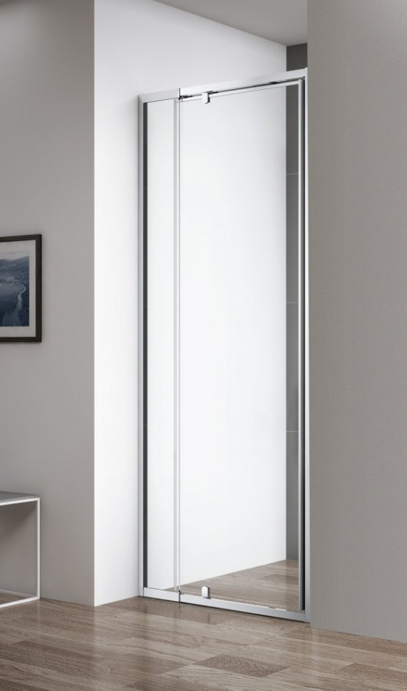 Душевая дверь 78,5-91 см Cezares VARIANTE-B-1-80/90-C-Cr прозрачное крючок helios офсетный b 91 2 0 цвет bc 5шт hs b 91 2 0
