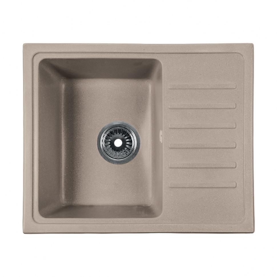 Кухонная мойка бежевый Rossinka RS56-46SW-Beige-Granite кухонная мойка бежевый rossinka rs51r beige granite