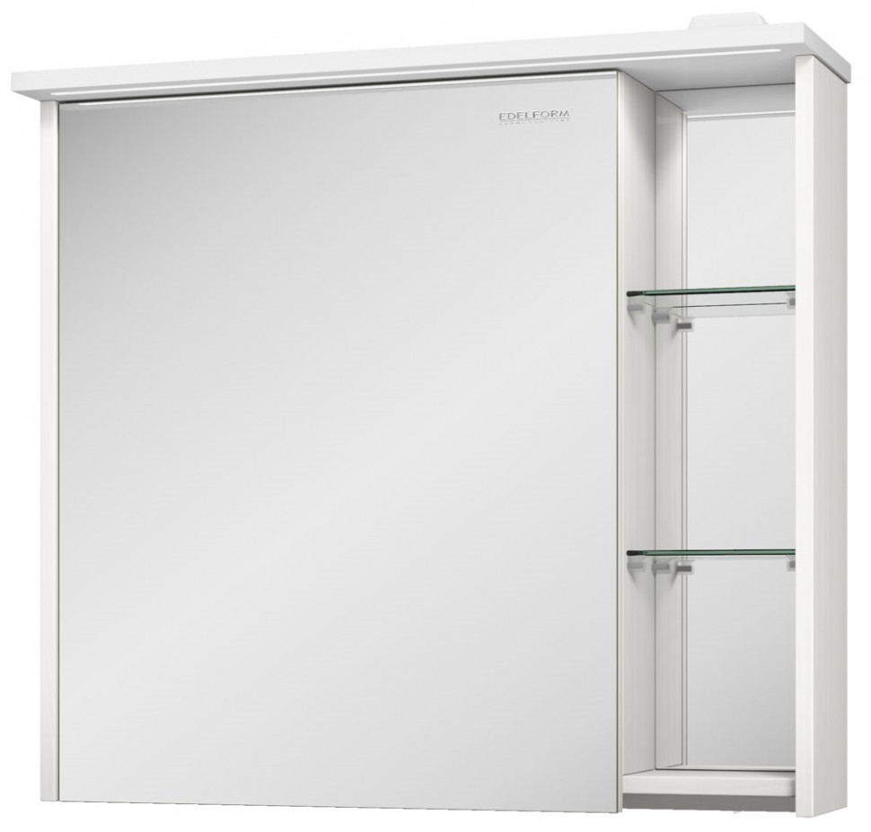 зеркальный шкаф edelform уника 100 белый с дуб гальяно 2 741 45 s Зеркальный шкаф выбеленный дуб 75х71 см Edelform Marino 35650