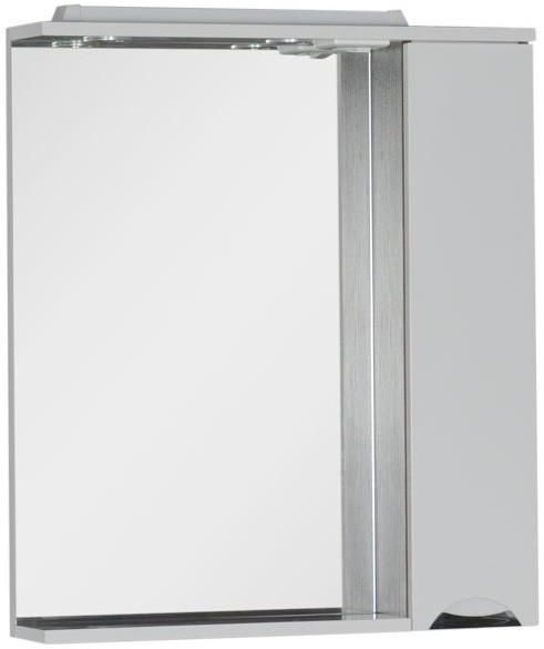 Зеркальный шкаф 75,5х87 см с подсветкой белый/венге Aquanet Гретта 00173995 зеркальный шкаф 90х87 см с подсветкой венге aquanet донна 00169179