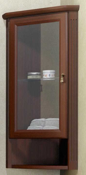 Шкаф подвесной угловой орех антикварный Opadiris Клио Z0000001640