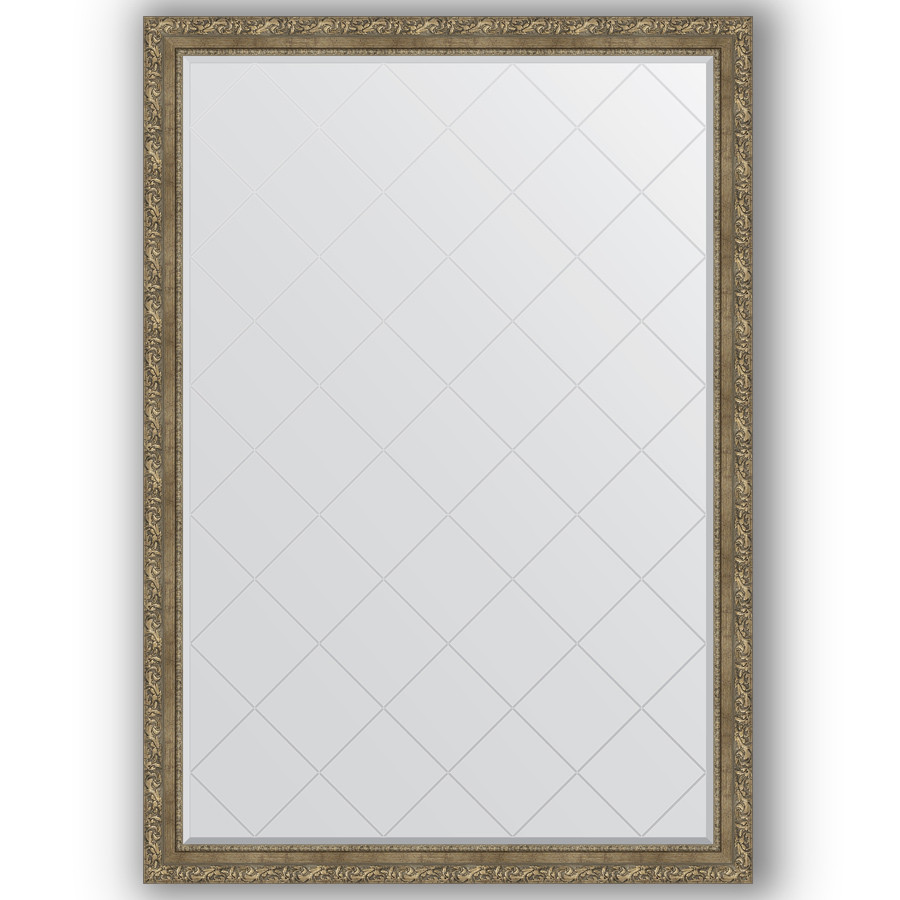 Зеркало 130х185 см виньетка античная латунь Evoform Exclusive-G BY 4489