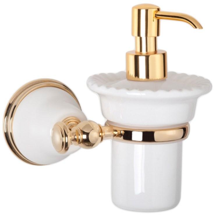 Дозатор жидкого мыла белый/золото Tiffany World Harmony TWHA108bi/oro дозатор д жидкого мыла ofelis harmony