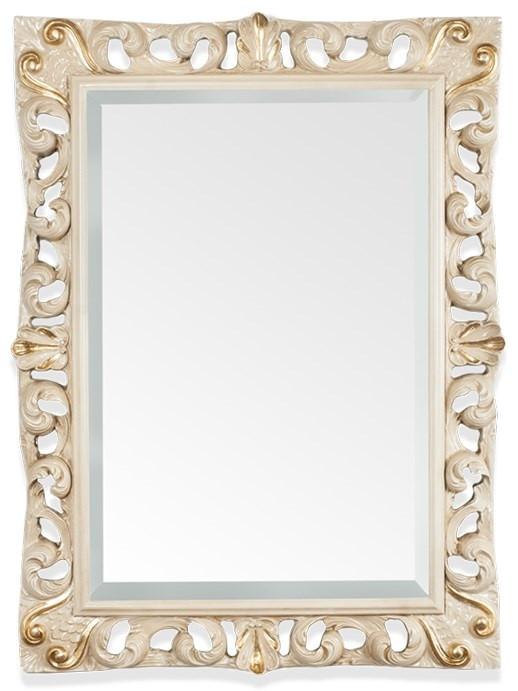 Зеркало 87х116 см слоновая кость/золото Tiffany World TW03539avorio/oro