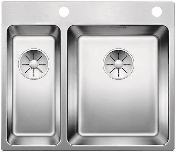 Кухонная мойка Blanco Andano 340/180-IF/A InFino зеркальная полированная сталь 522996 кухонная мойка blanco andano 340 if нерж сталь полированная без клапана автомата