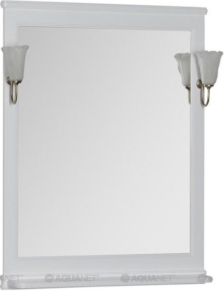 Зеркало 72,2х100 см белый Aquanet Валенса 00180150