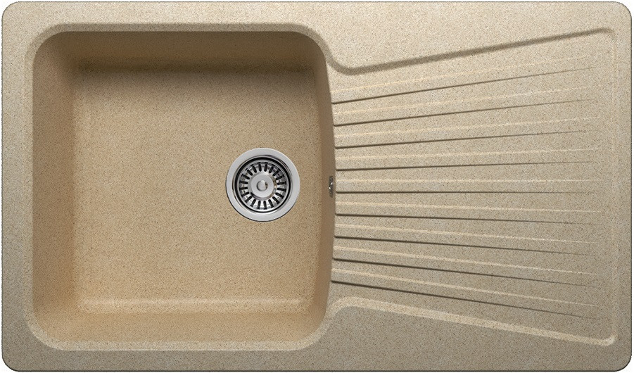 Кухонная мойка Polygran песочный F-12 №302 кухонная мойка polygran f 05 302 45 песочная