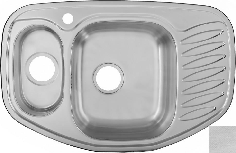 Кухонная мойка декоративная сталь Ukinox Комфорт COL776.507 15 GT8K 1C ukinox fal510 gt8k 0c