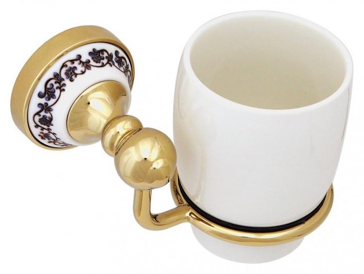 Стакан Fixsen Bogema Gold FX-78506G стакан для зубных щеток fixsen bogema gold fx 78506g золото белый