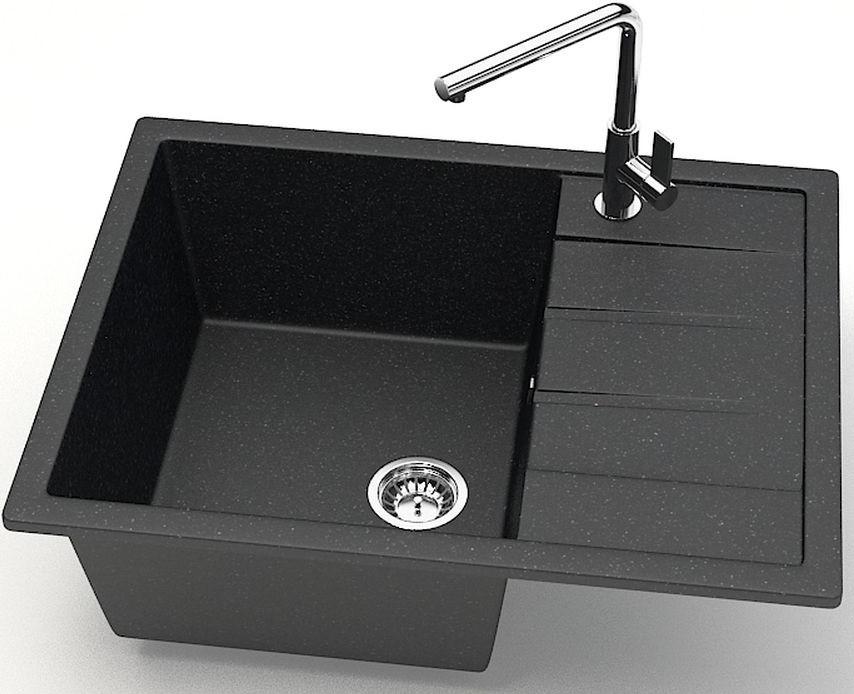 Кухонная мойка Zett Lab Модель 151 черный матовый T151Q004 кухонная мойка zett lab модель 151 хлопок матовый t151q007