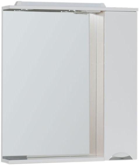 Зеркальный шкаф 75,5х87 см с подсветкой белый/светлый дуб Aquanet Гретта 00173986 зеркальный шкаф 55х88 1 см белый aquanet стайл 00181511