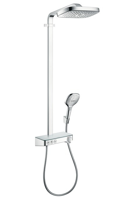 Душевая система Hansgrohe Raindance Select E 300 3jet Showerpipe 27127000 фото