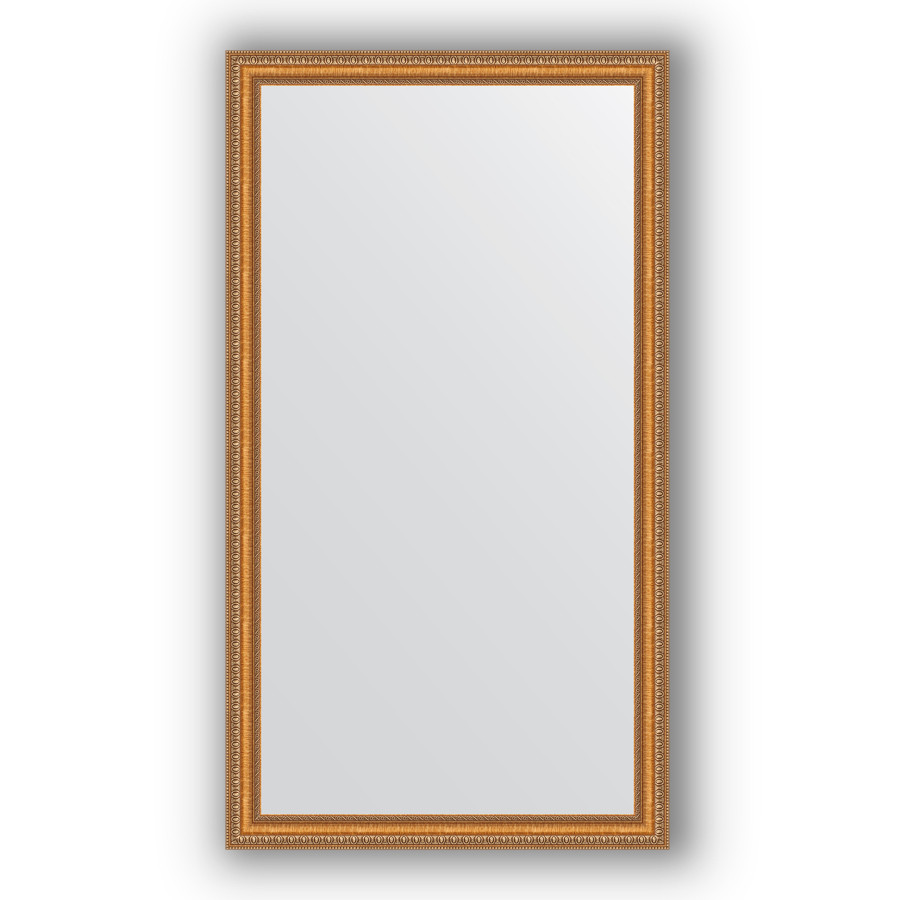 Зеркало 75х135 см золотые бусы на бронзе Evoform Definite BY 3298 зеркало evoform definite 155х75 золотые бусы на бронзе