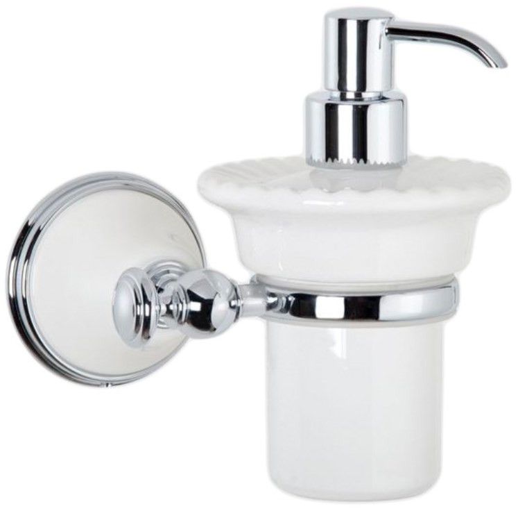 Дозатор жидкого мыла белый/хром Tiffany World Harmony TWHA108bi/cr фото