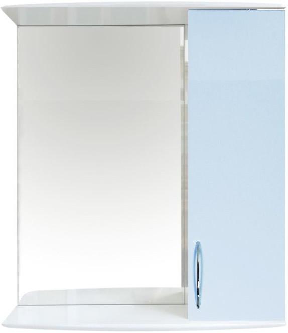Зеркальный шкаф 50х70,1 см белый глянец/голубой глянец Orange Роса Ro-50ZSB