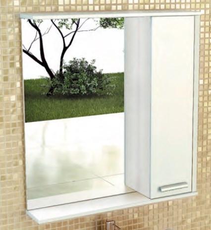Зеркальный шкаф 75х83,2 см белый глянец Comforty Тулуза 00004136264 фото