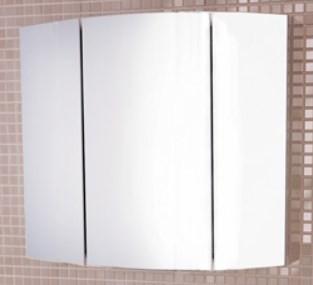 Зеркальный шкаф 74х63 см белый глянец Comforty Лаура 00003121083 цена и фото