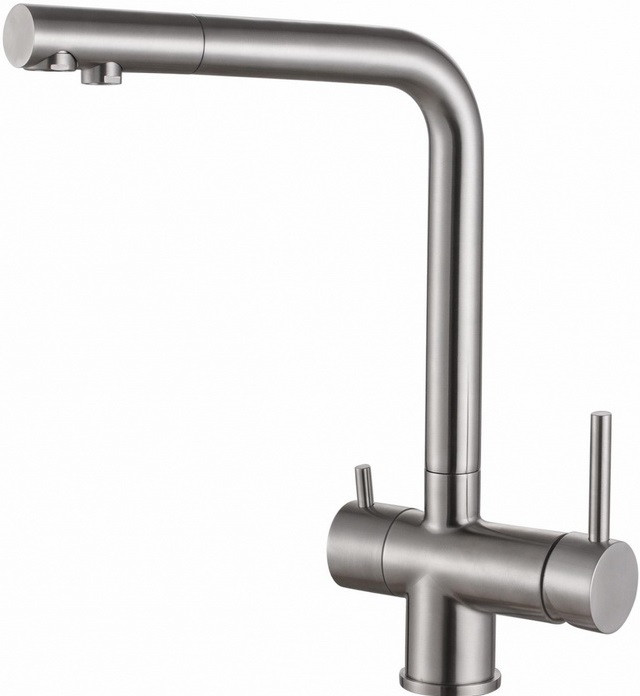 Смеситель для кухни с подключением к фильтру Zorg Inox SZR-7039 цена