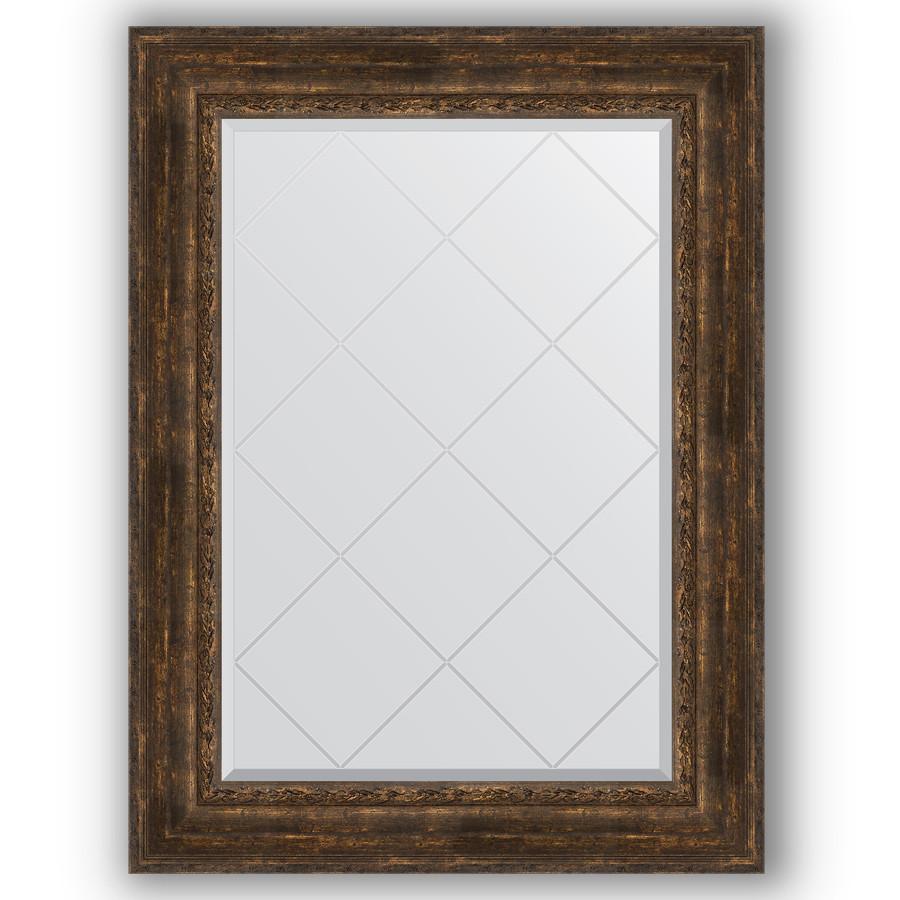 Зеркало 82х110 см состаренное дерево с орнаментом Evoform Exclusive-G BY 4215