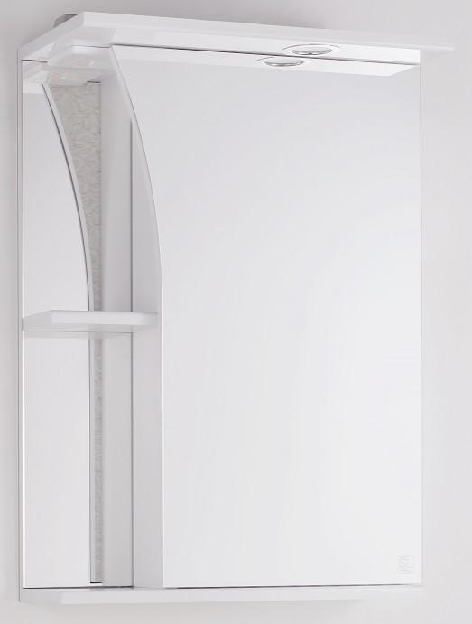Фото - Зеркальный шкаф 50х73 см белый глянец Style Line Виола LC-00000117 зеркальный шкаф 50х83 см венге белый глянец style line панда стиль lc 00000086