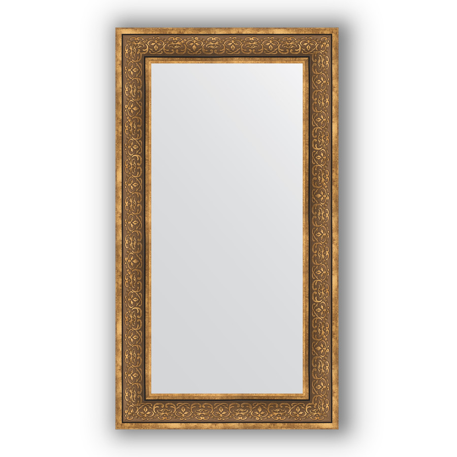 Зеркало 63х113 см вензель бронзовый Evoform Definite BY 3095 зеркало evoform definite 153х63 вензель бронзовый