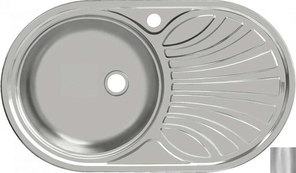 Кухонная мойка матовая сталь Ukinox Фаворит FAM747.447 --T6K 2L