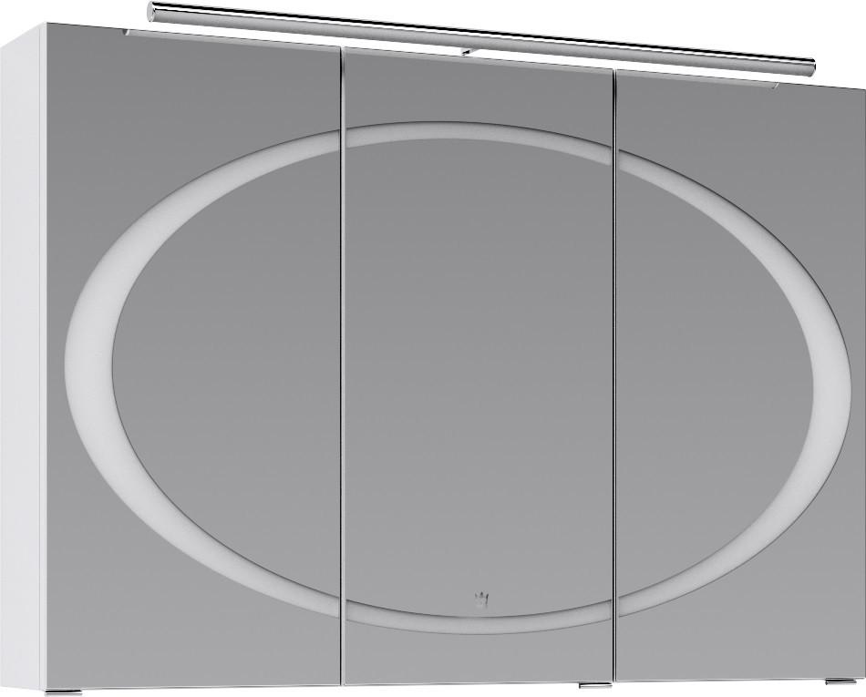 Зеркальный шкаф 100х70 см белый глянец Clarberg Dune Dun.04.10/W зеркало clarberg dune dun 02 10 w