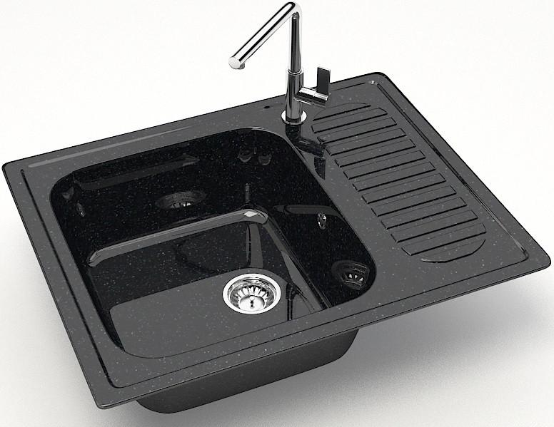 Кухонная мойка Marrbaxx Арлин Z15 черный глянец Z015Q004 фото