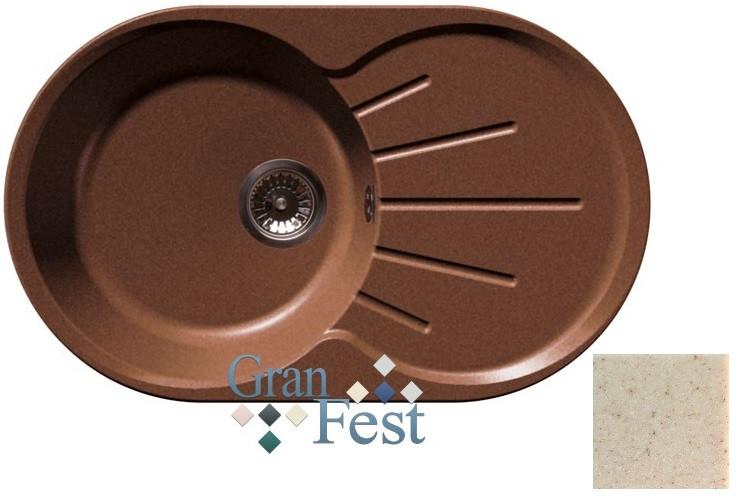 Кухонная мойка бежевый GranFest Rondo GF-R750L granfest эко м 3323 бежевый