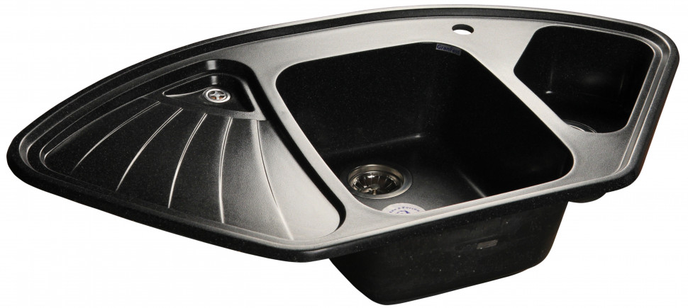 Кухонная мойка черный GranFest Corner GF-C1040E цены онлайн