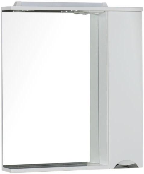 Зеркальный шкаф 75,5х87 см с подсветкой белый Aquanet Гретта 00176899 зеркальный шкаф 55х88 1 см белый aquanet стайл 00181511