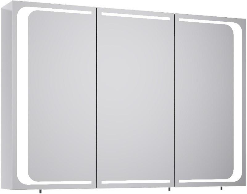 Зеркальный шкаф белый глянец 100х70 см Aqwella 5 Stars Milan Mil.04.10 недорого